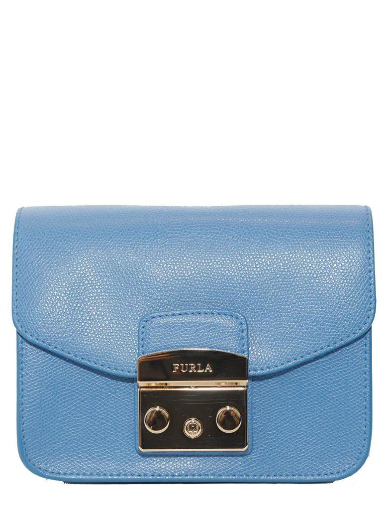 Mini Metropolis Leather Crossbody Bag - Blue in Celeste C