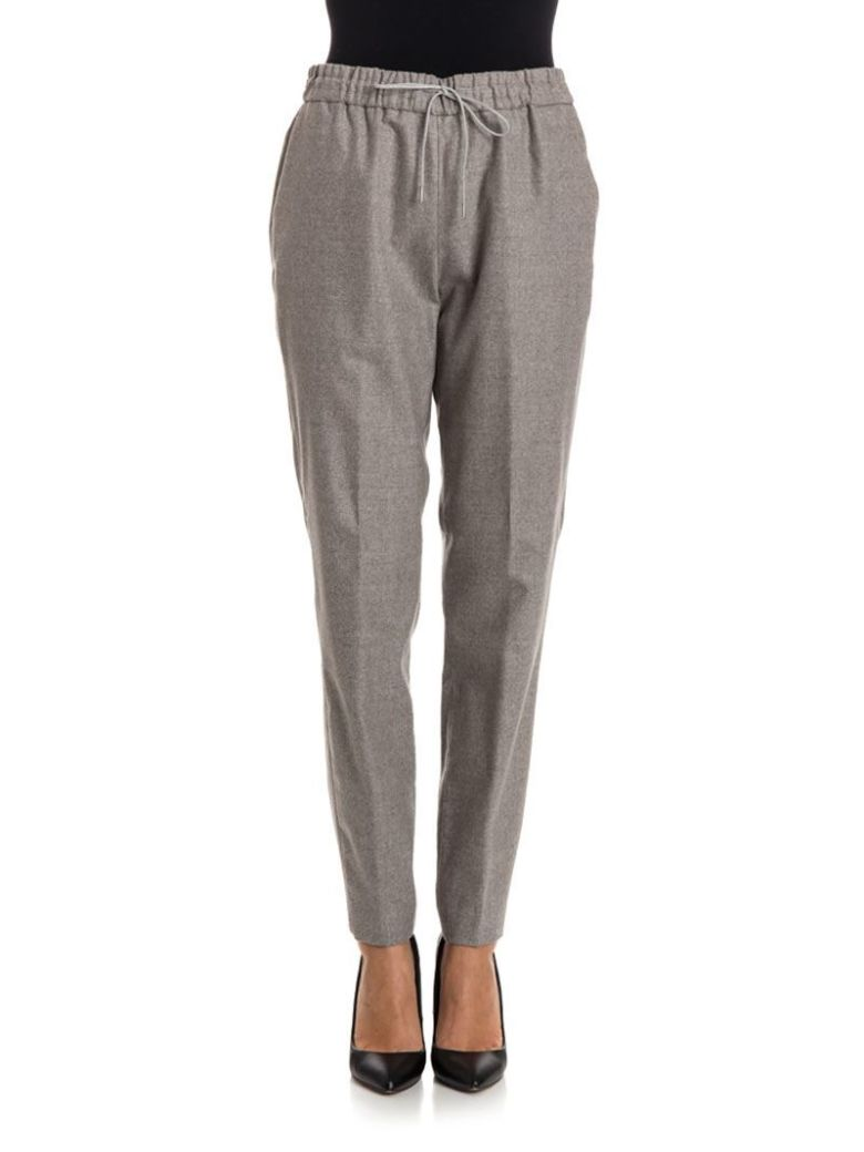- WOOL AND CASHMERE TROUSERS