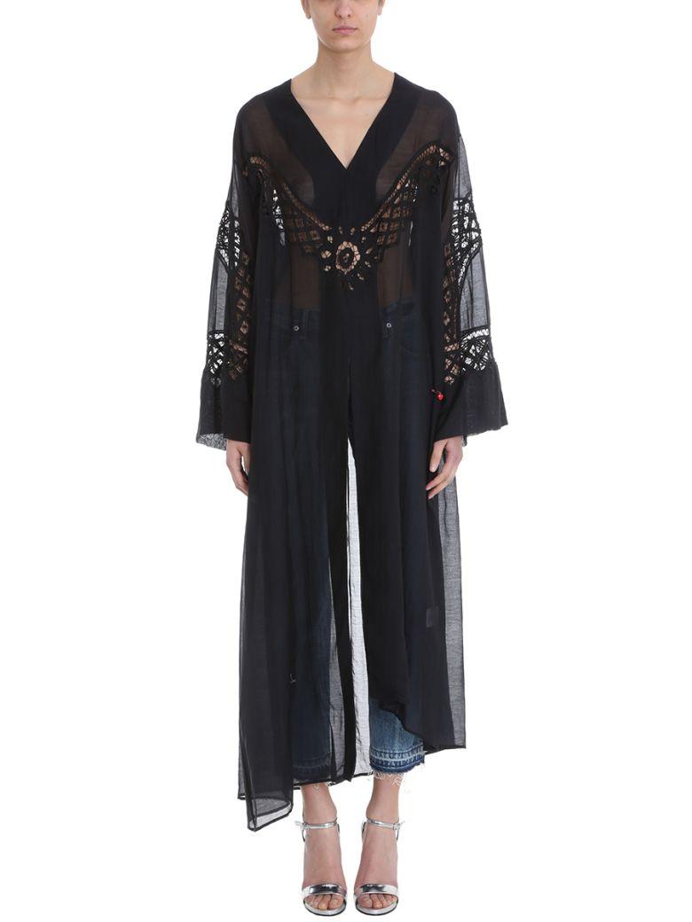 GIACOBINO BLACK CATFAN DRESS
