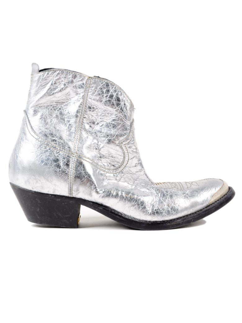 Metallic Boots, Gold And Silver