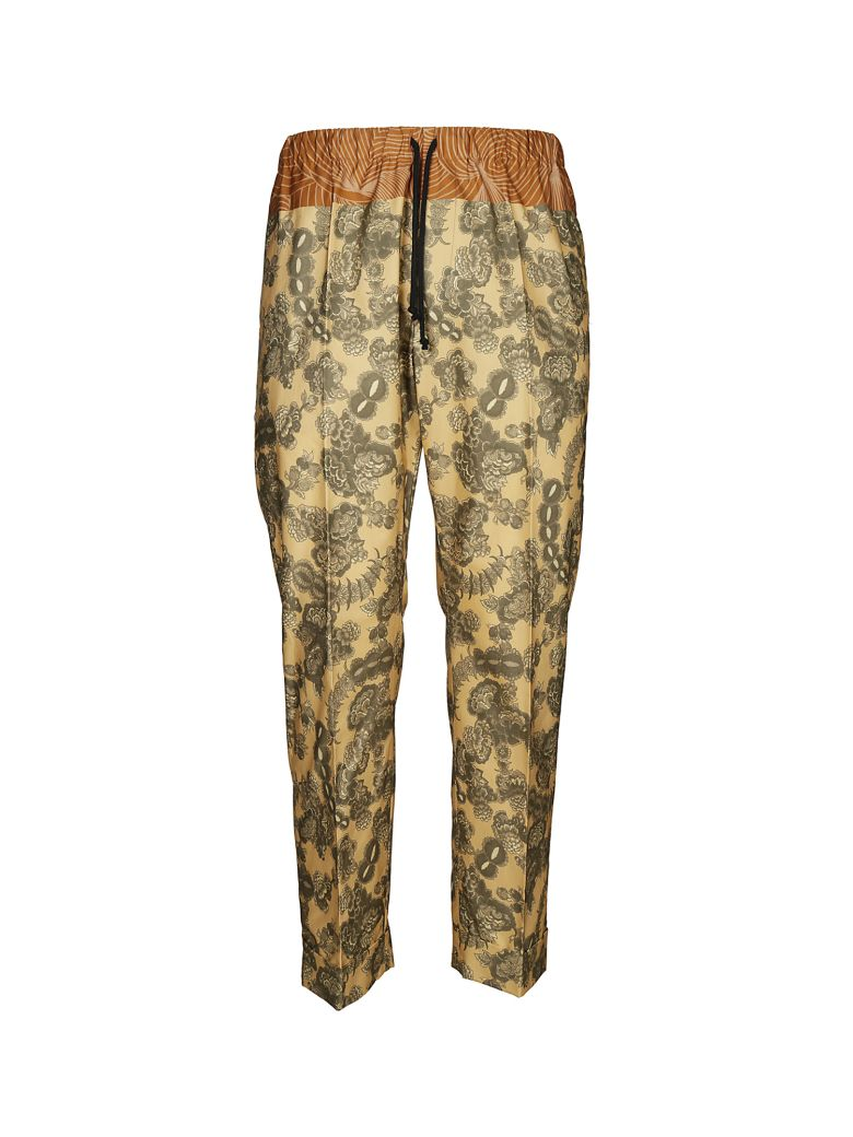 DRIES VAN NOTEN FLORAL TRACK PANTS