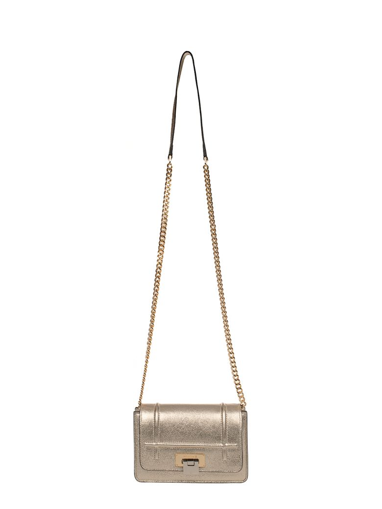 Visone Leathers GOLD LIZZY SMALL LEATHER SHOULDER BAG