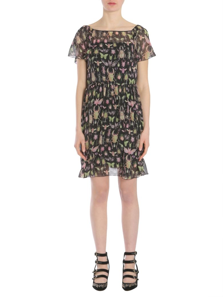 INSECTS PRINTED GEORGETTE DRESS