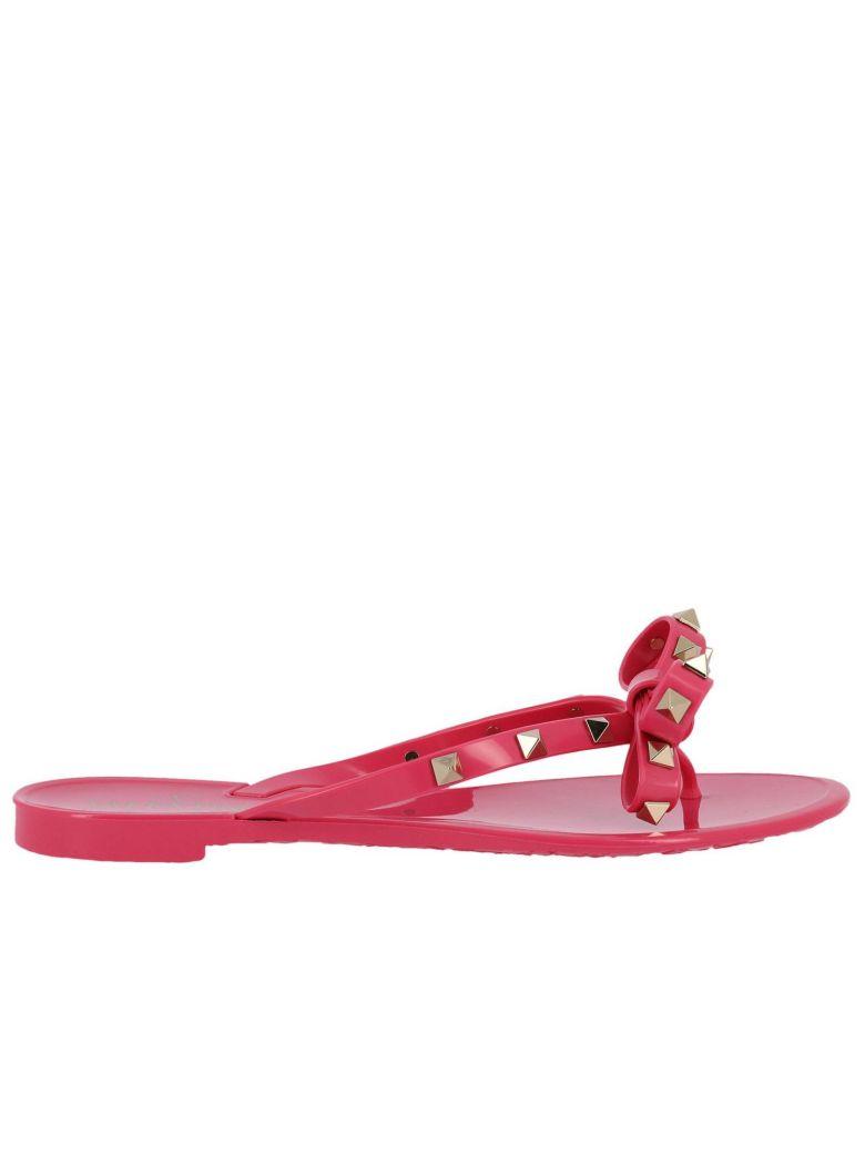 14dd0e9f34876 Shoptagr   Flat Sandals Valentino Rockstud Flip Flop Sandals In Pvc ...