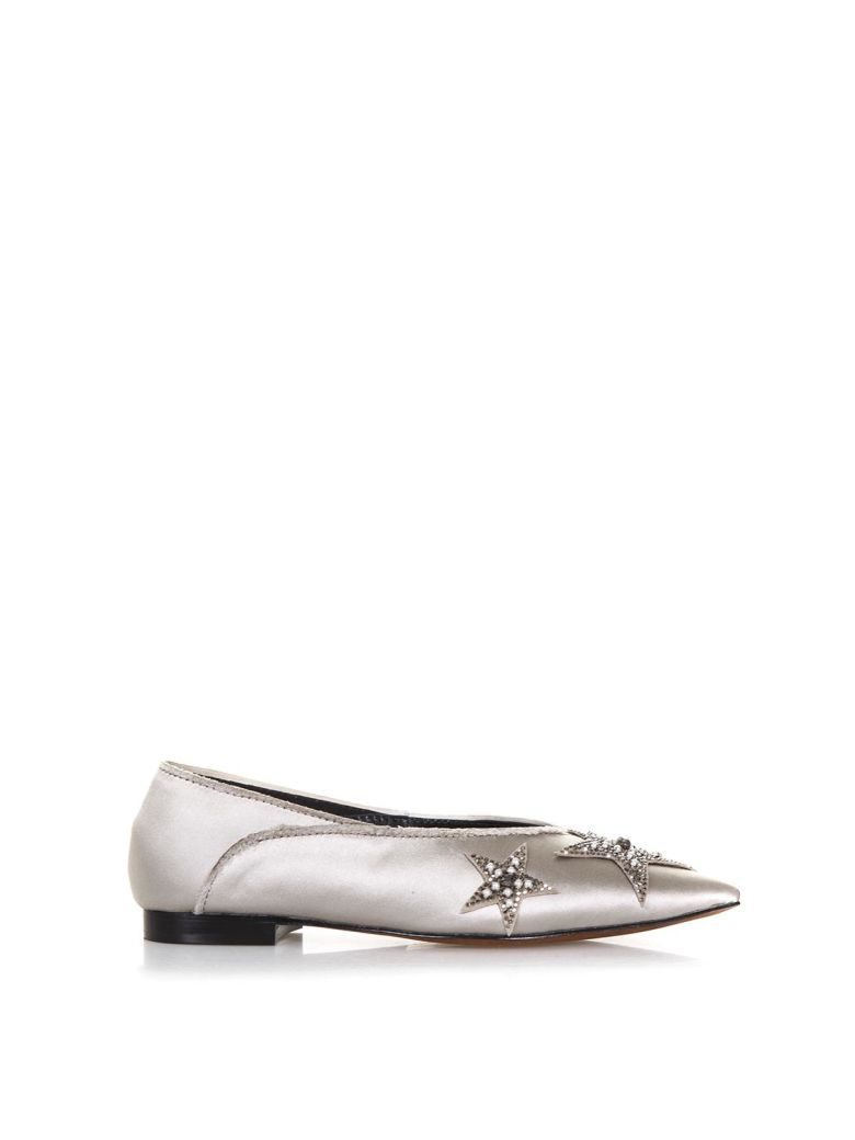 LOLA CRUZ PALMITO SATIN SLIPPERS