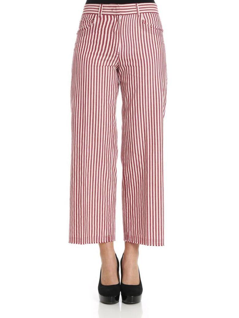 QL2 Ql2 - Mya Trousers in Rigato Rosso