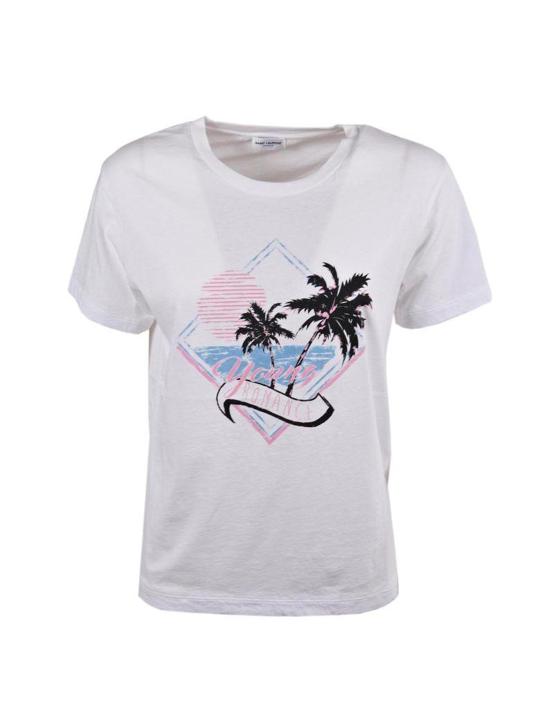 Young Romance T-shirt - White Saint Laurent Inexpensive For Sale lRp5EXGid