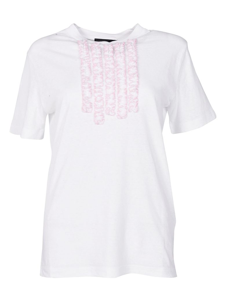 Dsquared2  RUFFLE TRIMMED T-SHIRT