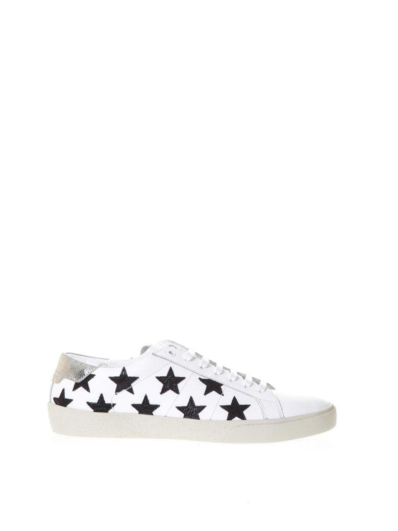 81b77b9fe9d Saint Laurent Sl-06 Signature Court Classic California Sneakers In Optic  White & Black &