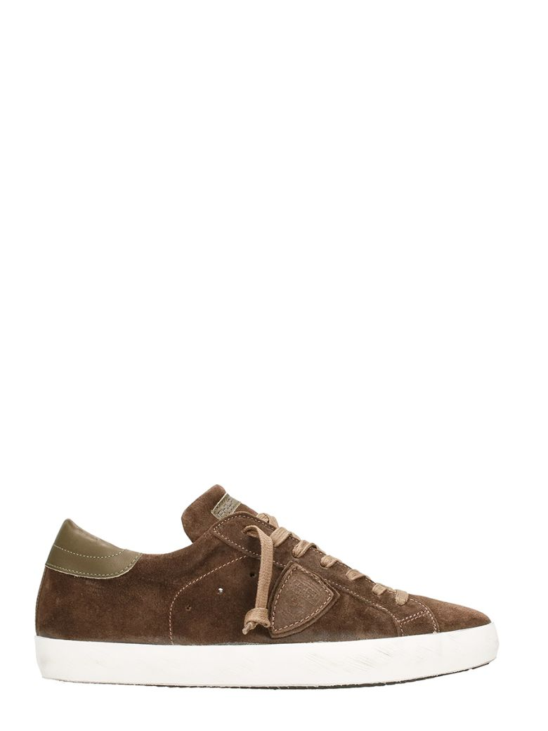 Philippe Model  PARIS BROWN SUEDE LEATHER SNEAKERS