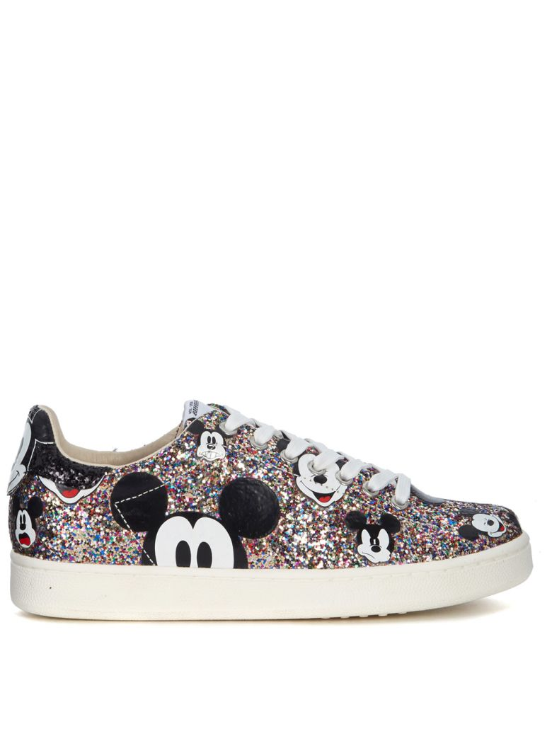 M.O.A. MASTER OF ARTS MOA MICKEY MOUSE MULTICOLOR GLITTER SNEAKERS