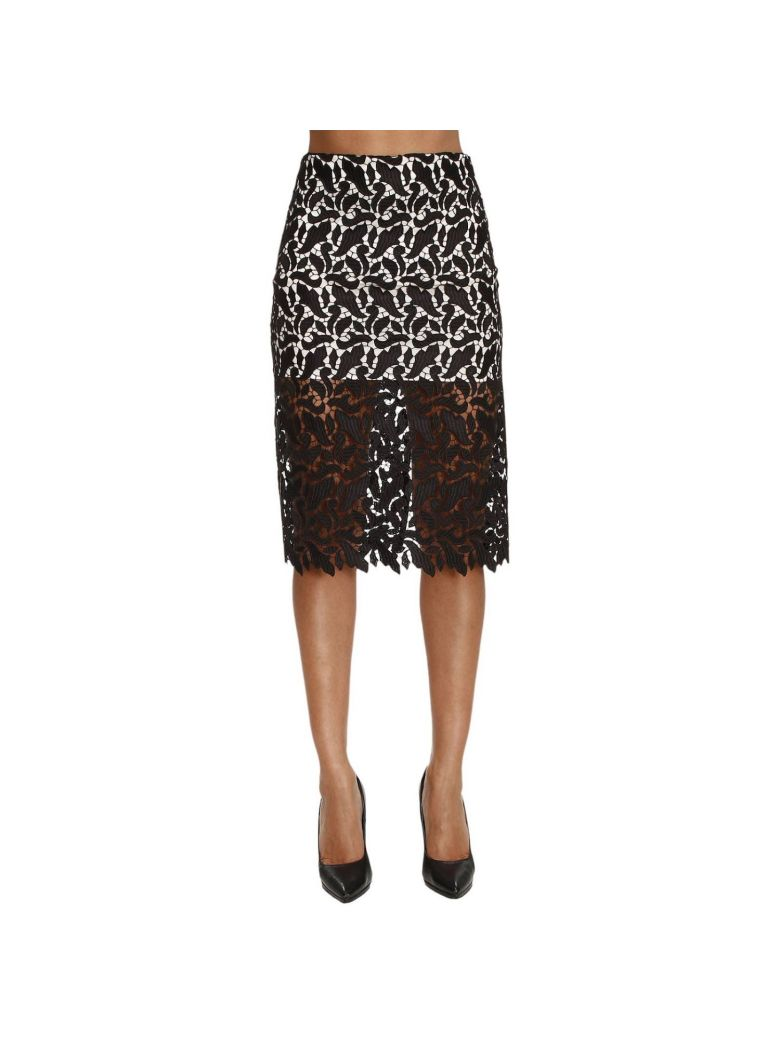 sheer lace pencil skirt