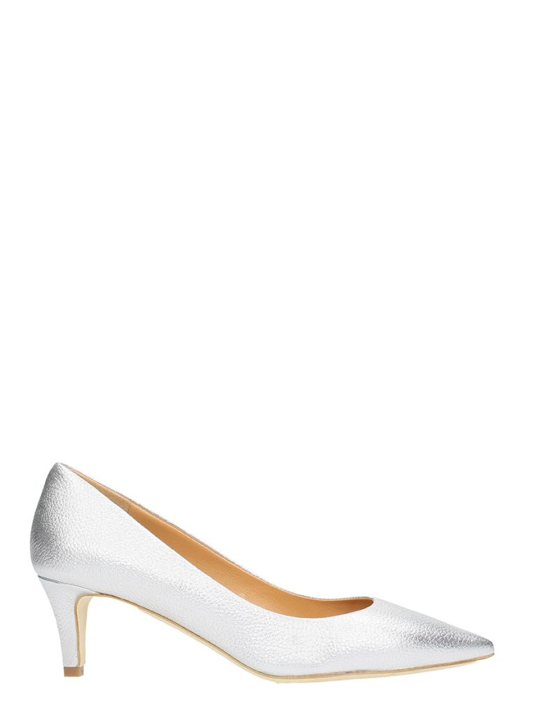 THE SELLER SILVER LEATHER PUMPS