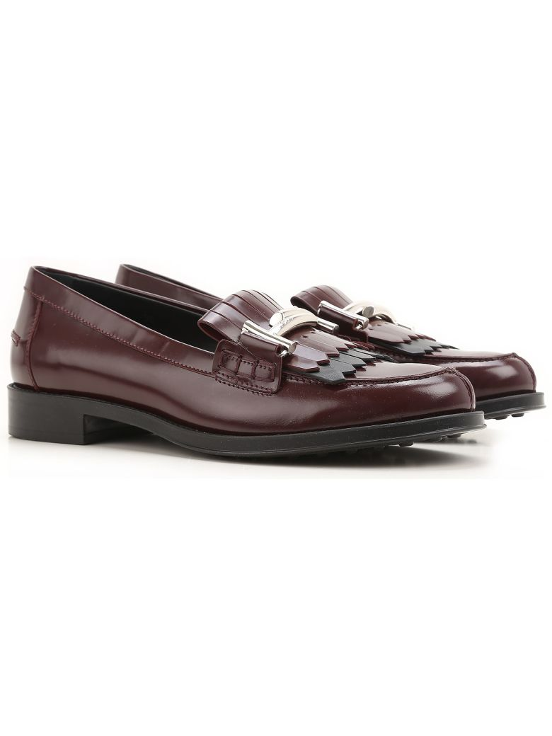 DOUBLE T FRINGED LEATHER LOAFERS