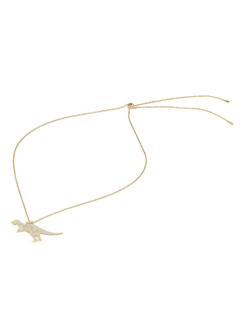 Rexy In Wonderland Necklace, Gold
