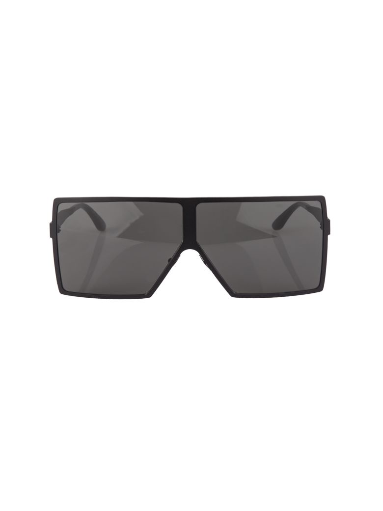 NEW WAVE 182 BETTY SUNGLASSES IN MATTE BLACK METAL WITH SMOKED LENSES