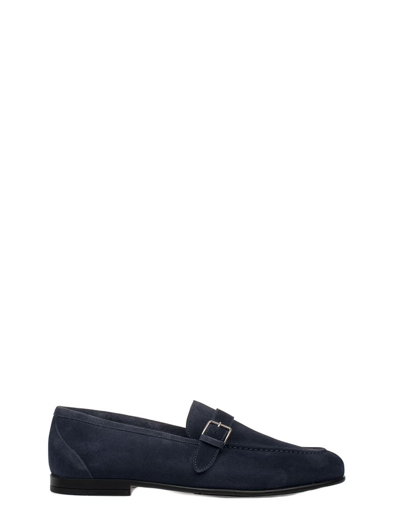 ALBERTO GUARDIANI BLUE SUEDE LOAFER