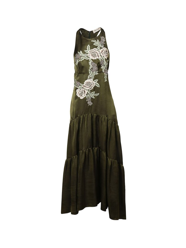 BLACK CORAL FLORAL DRESS