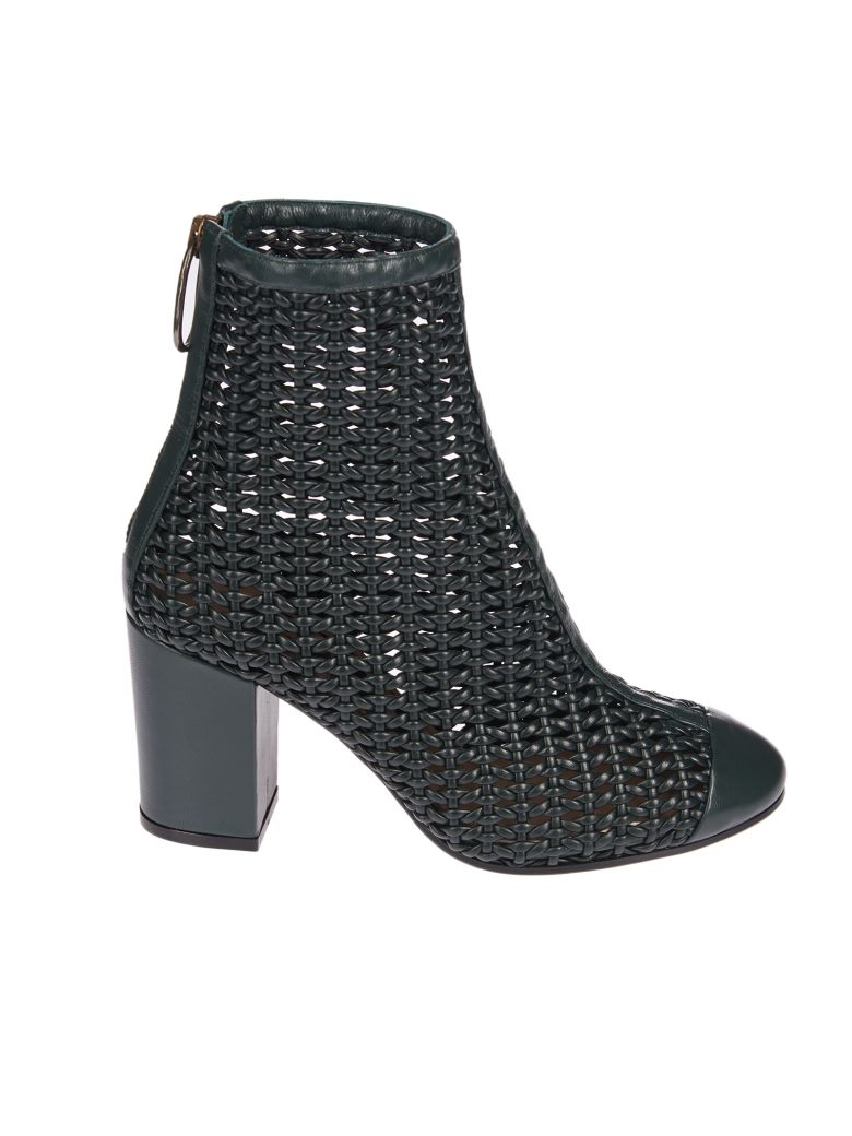 WOVEN ANKLE BOOTS
