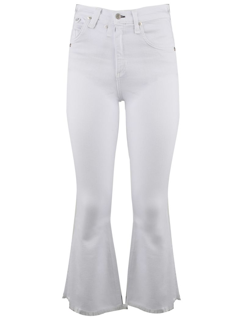 CROP FLARE HIGH-RISE JEANS