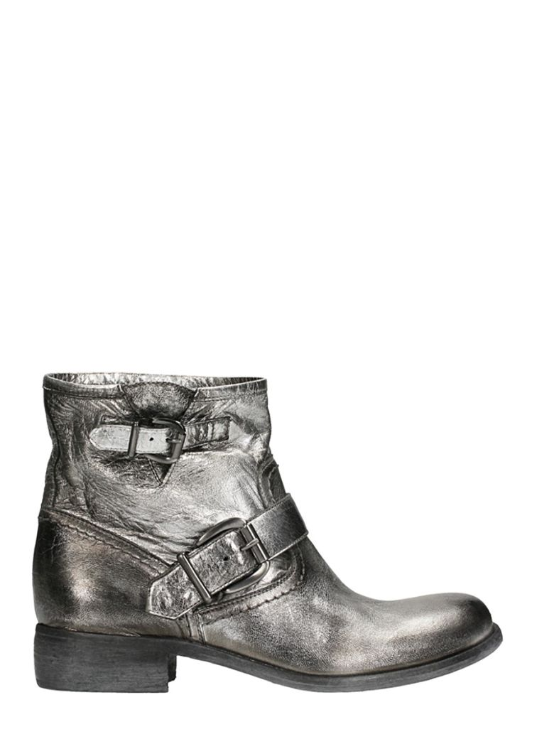 SPRITZ SILVER LEATHER BOOTS