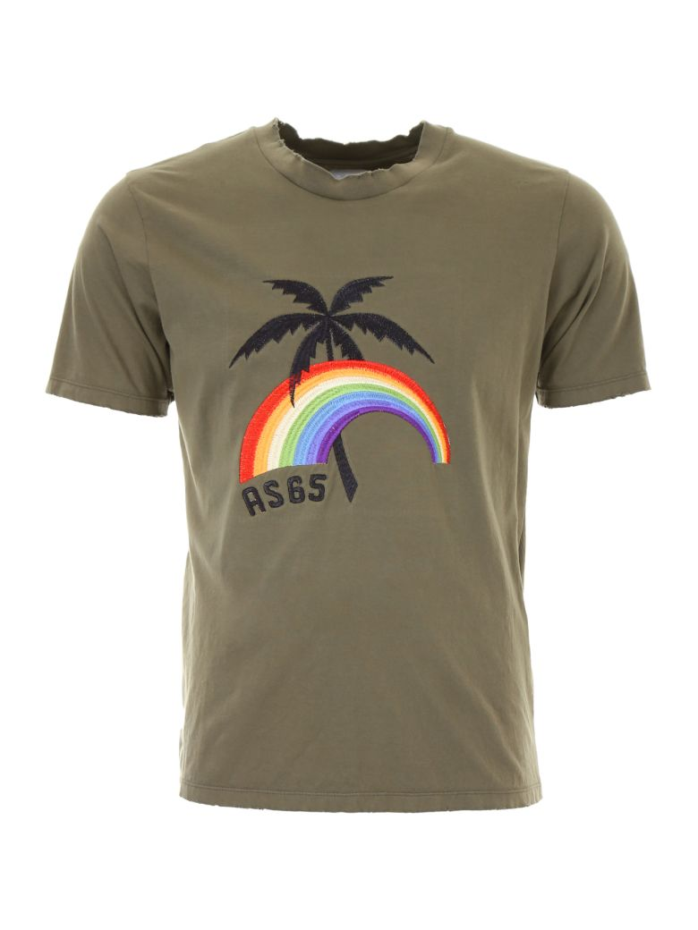 AS65 T-SHIRT WITH PALM EMBROIDERY