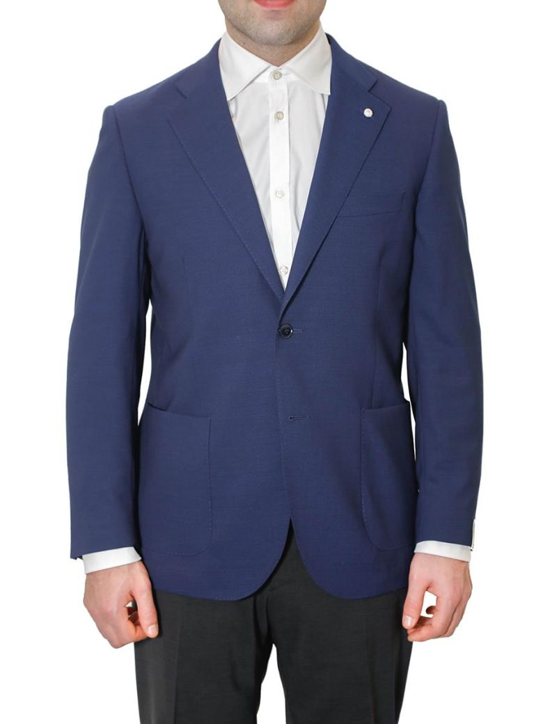 LUIGI BIANCHI MANTOVA LUBIAM - SINGLE-BREASTED JACKET WITH TWO BUTTONS