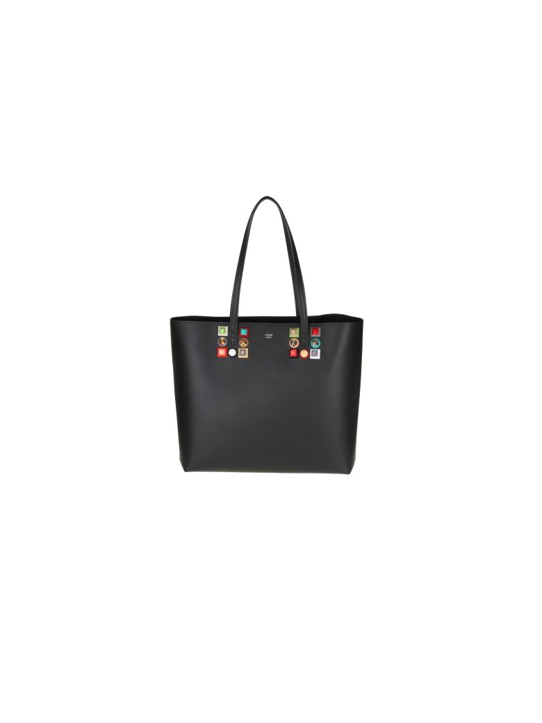 BAG ROLL LEATHER WITH BLACK STUD