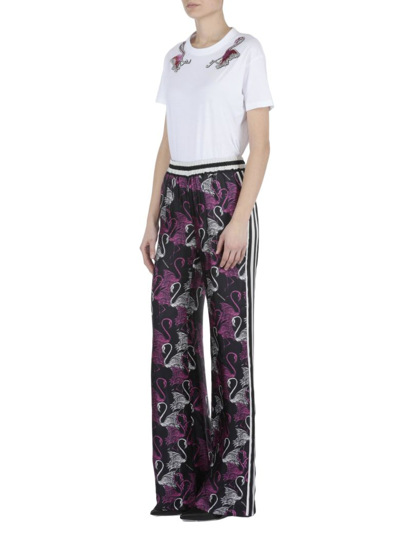 MARCOBOLOGNA MULTICOLOR PRINTED TROUSERS