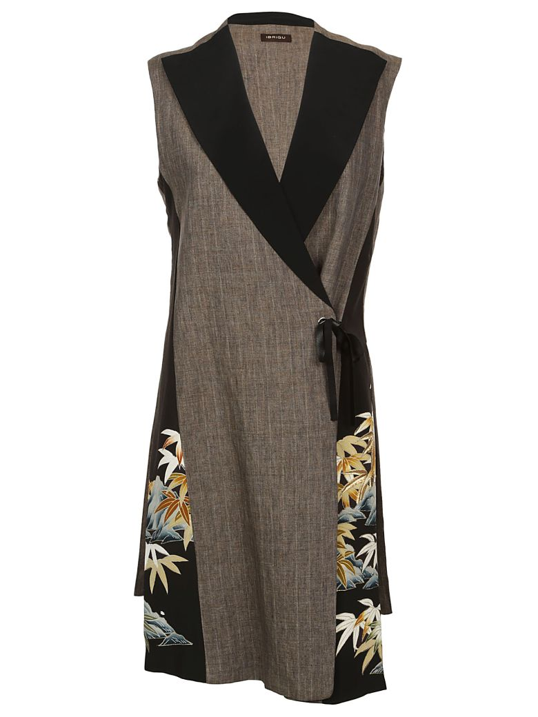 IBRIGU Embroidered Leaf Vest in Brown