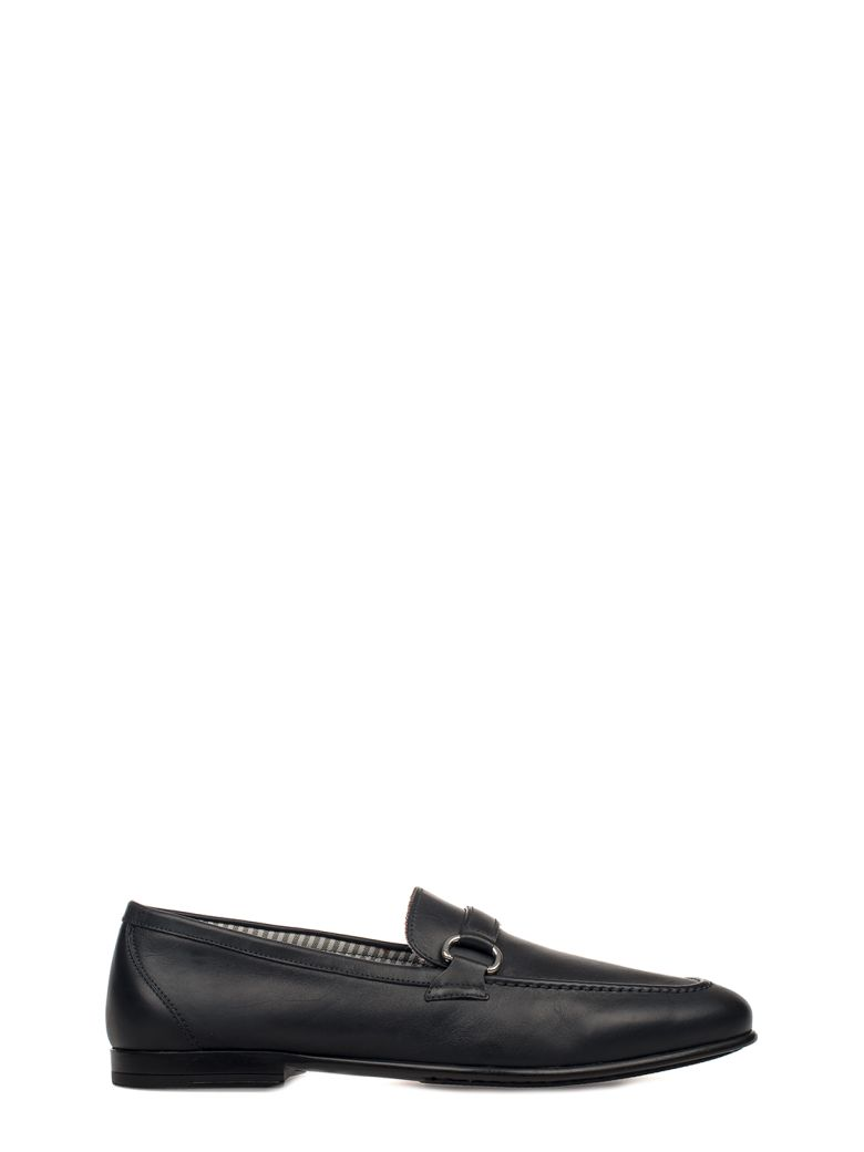 ALBERTO GUARDIANI BLUE LEATHER LOAFER