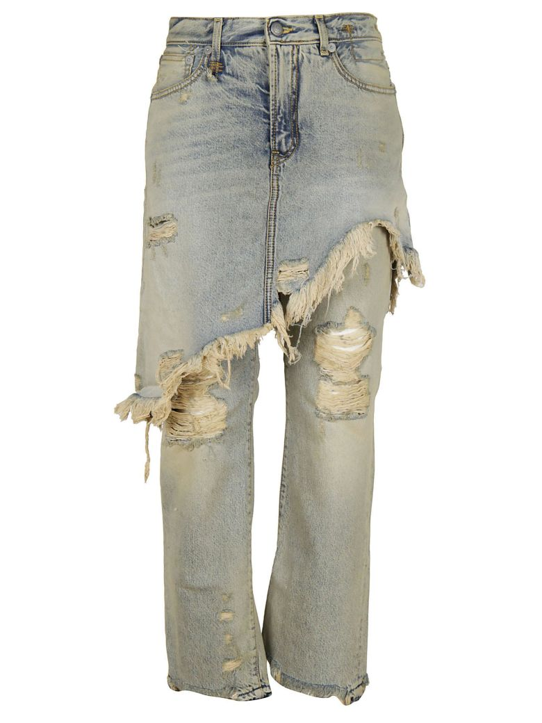 OVERLAY DISTRESSED JEANS