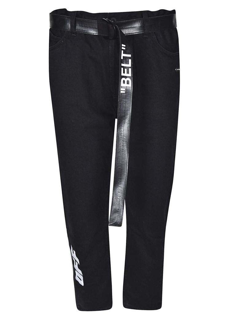 OFF-WHITE LOW CROTCH JEANS