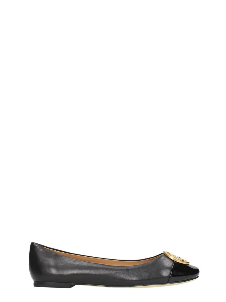 51c81325c73d Tory Burch Chelsea Soft Leather Cap-Toe Ballet Flats In Black