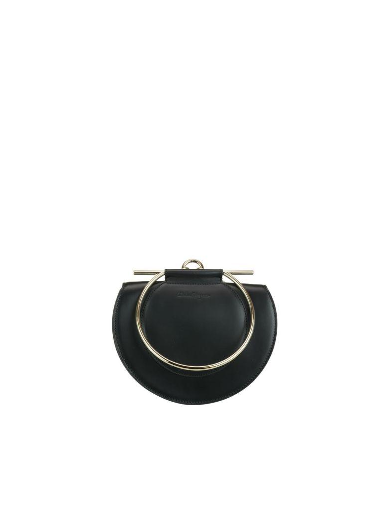 SALVATORE FERRAGAMO DAPHNE BLACK LEATHER BAG  598273f300e49