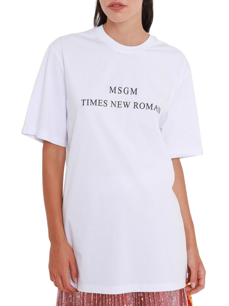 SHORT SLEEVES T-SHIRT WITH TIMES NEW ROMAN PRINT