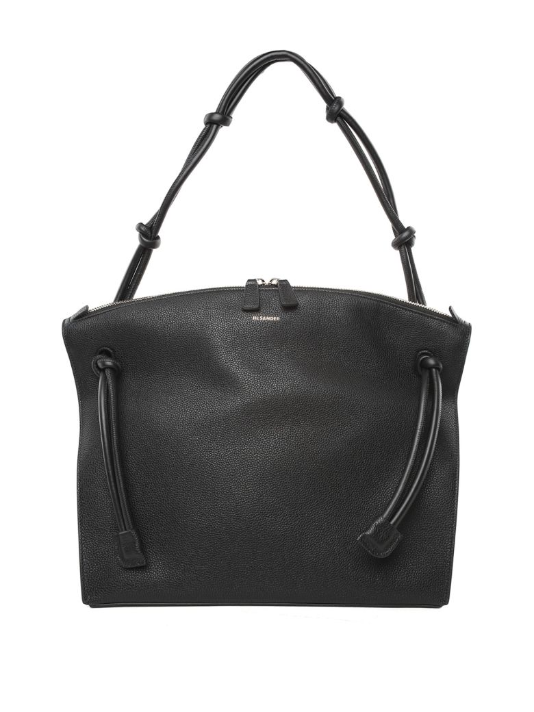 HILL MD GRAINED-LEATHER TOTE BAG