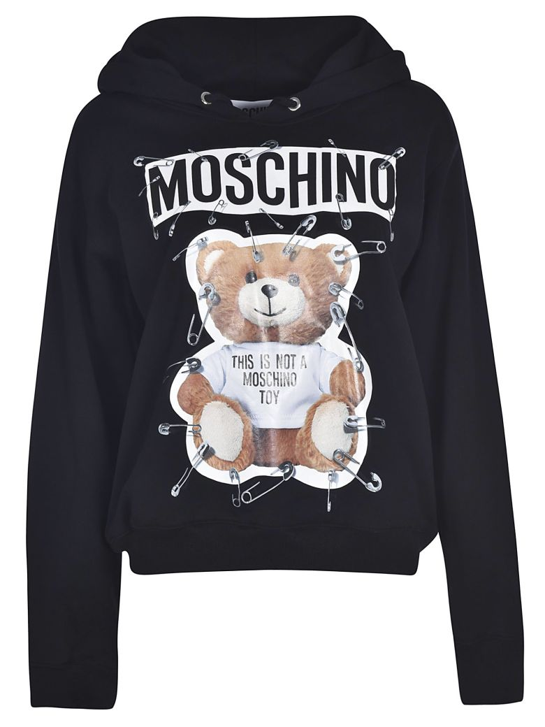 Moschino Cottons SAFETY PIN TEDDY BEAR HOODIE