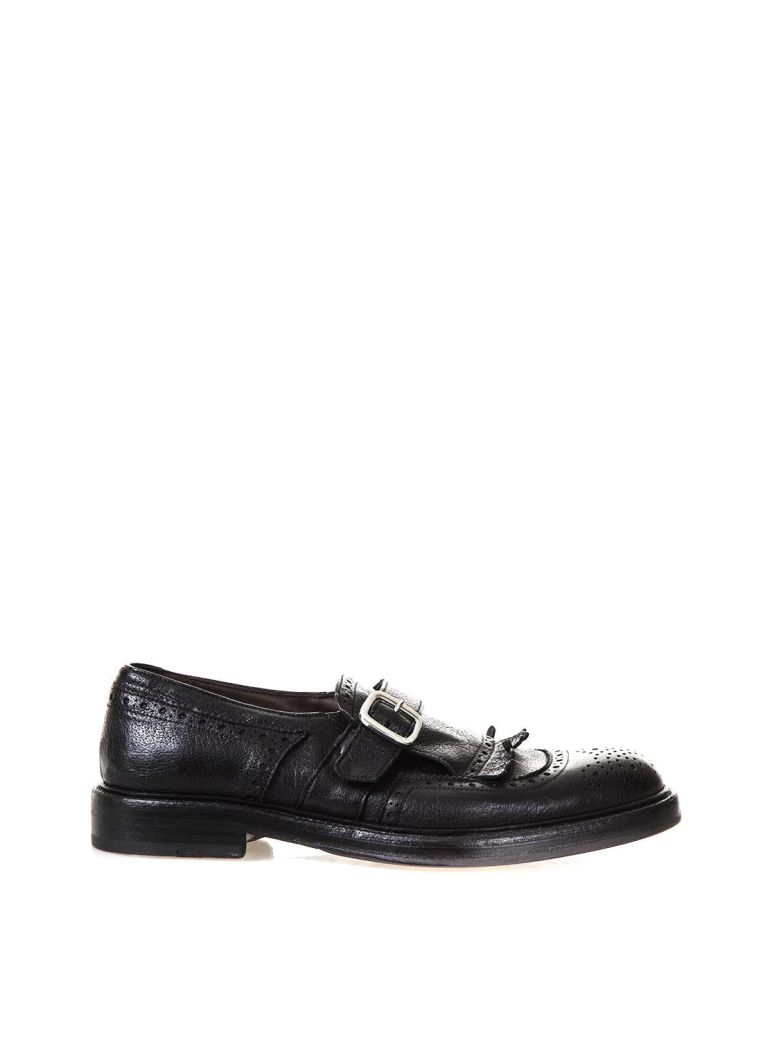 GREEN GEORGE FRINGED LEATHER MONK-STRAP