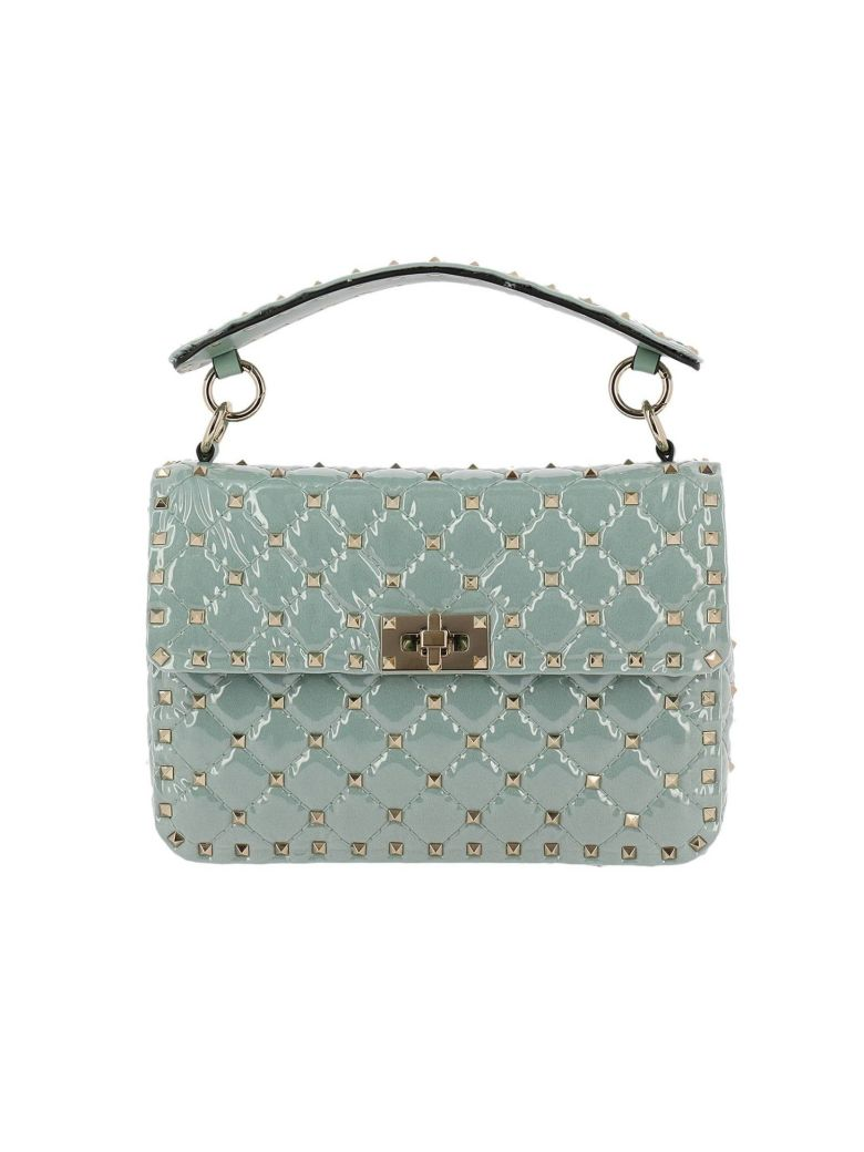 MINI BAG VALENTINO ROCKSTUD SPIKE BAG IN PVC WITH MICRO STUDS AND SHOULDER STRAP