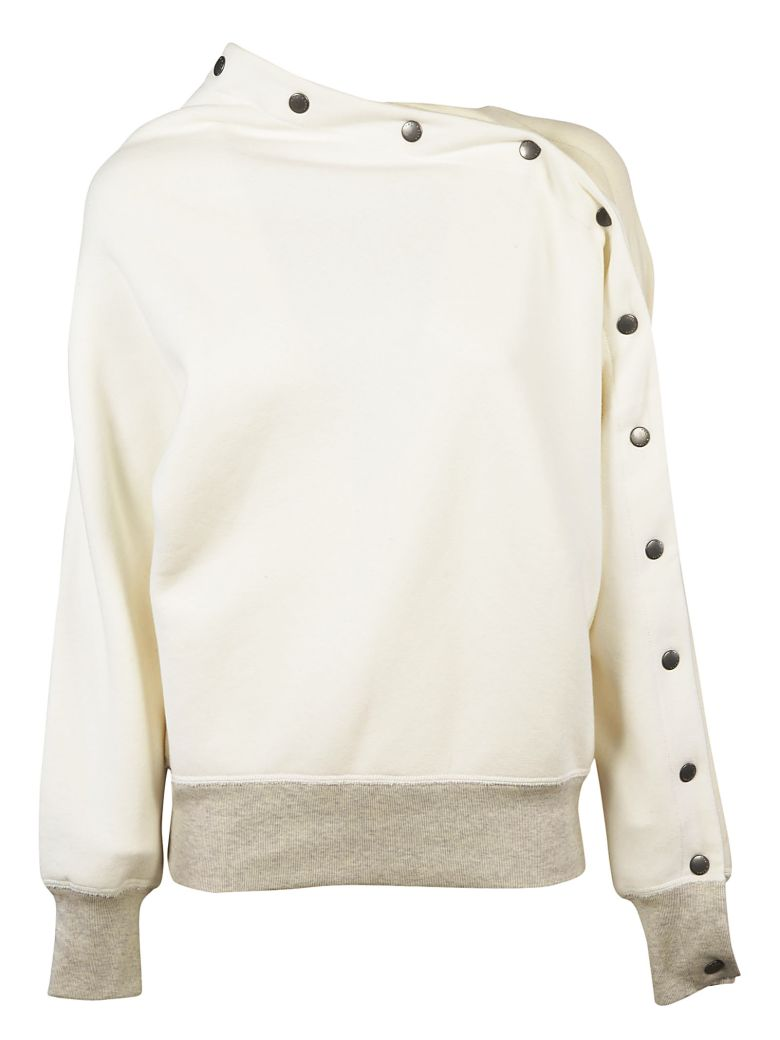 SHOULDER BUTTON DETAILED SWEATER