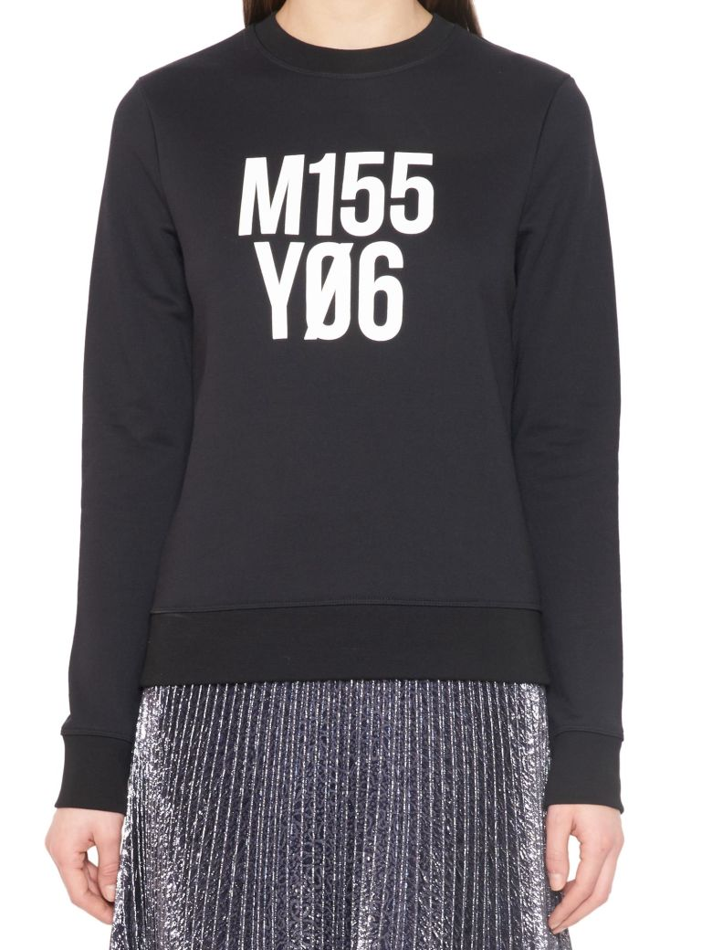 "RED VALENTINO Black ""Mi55 Y06"" Black Sweatshirt"