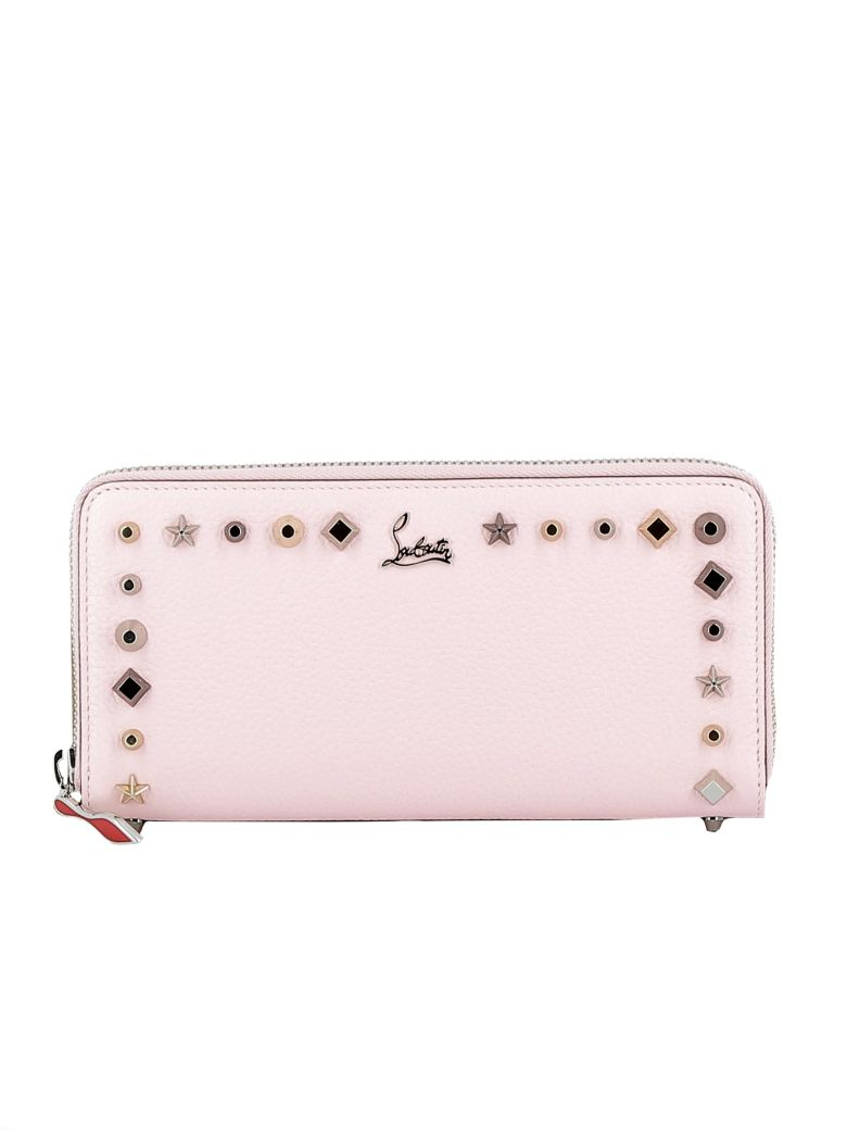 394387a373a4 Pompadour Leather Wallet, Pink