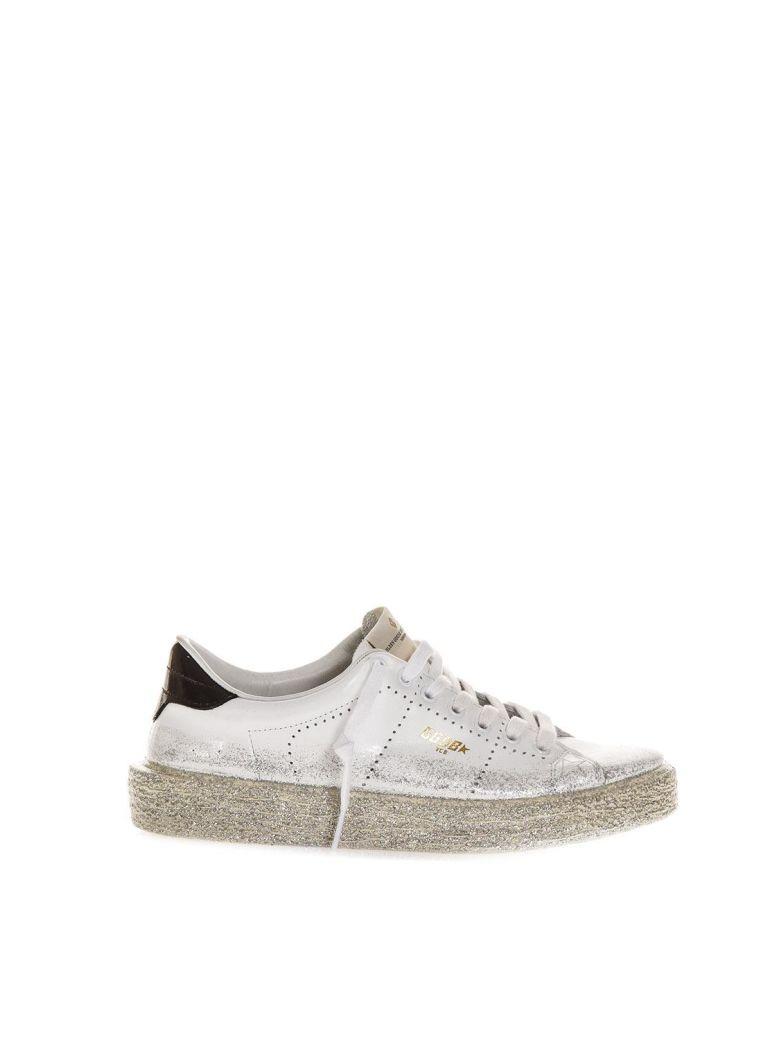 White Ggdb Glitter Spray Tennis Sneaker