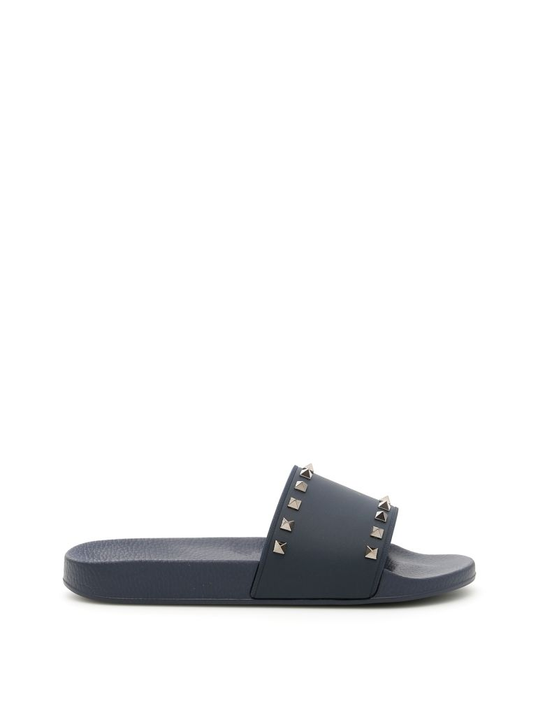 Rockstud Pvc Slide Sandals - Black Size 6 M