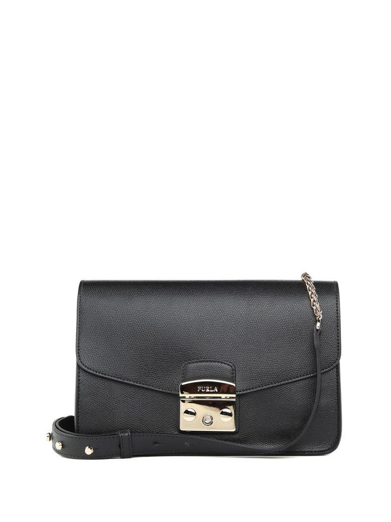 Shoulder Bag for Women On Sale, Onyx Black, Leather, 2017, one size Furla