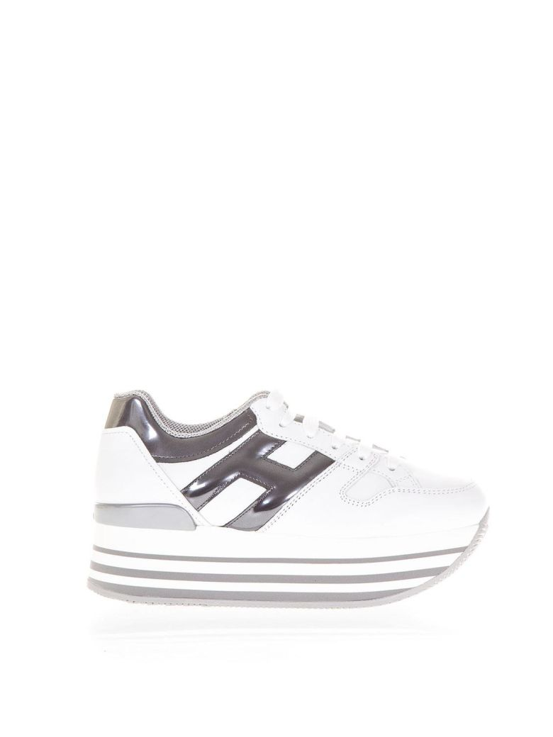 Hogan Women's Shoes Leather Trainers Sneakers Maxi H222 In White