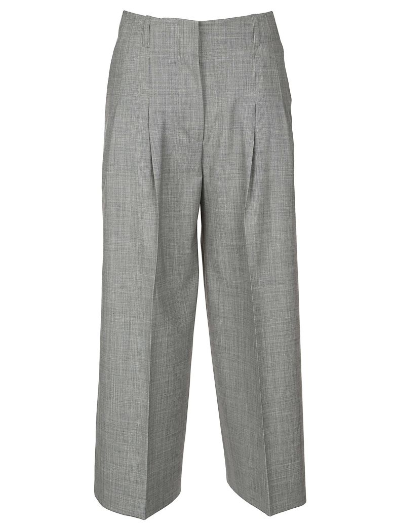 QL2 Quelledue Cropped Trousers in Light Gray
