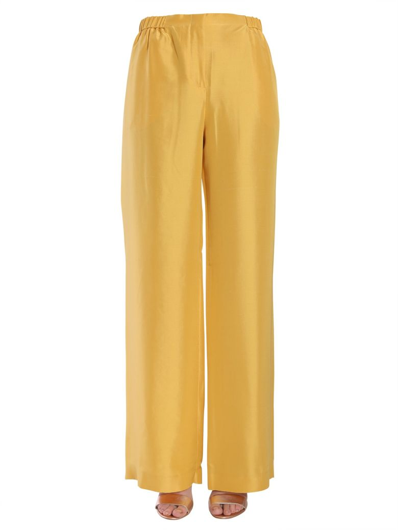 Wide Trousers in Yellow