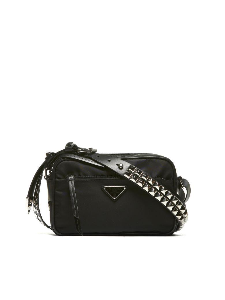 a9dded3861df Prada Studded Shoulder Bag In Nero | ModeSens